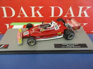 Die cast 1/43 Modellino Auto F1 Ferrari 312 T2 Brazilian Grand Prix 1977 N.Lauda