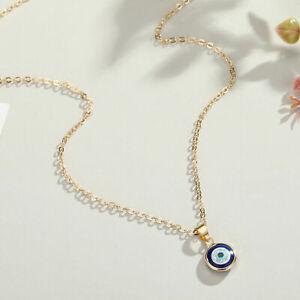 Nazar Boncuk Halskette Gold böses Auge Amulett Glücksbringer Türkisch Arabisch S