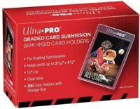"200 Ultra Pro Graded Card Submission Semi Rigid 1/2"" Lip Tall Sleeves | #43000"