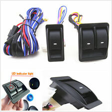 Auto Car Window Switch Kits With Wiring Harness Universal 12V For 2 Doors Type