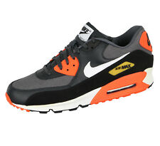 NIKE Air Max 90 Premium sz 12.5 Dark Gray Anthracite Total Crimson Reverse