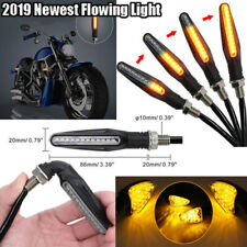 4X Universal Flowing Motorcycle Motorbike LED Turn Signal Indicator Amber Light.