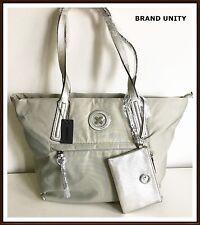 Mimco SPLENDIOSA Tote Hand Bag Bonus Purse S16 Silver Stone