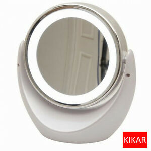 Illuminated Dual Sided Makeup Lighted Mirror 5x 1x Magnification Beauty Bathroom