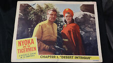 "1952 ""Nyoka and the Tigermen"" Lobby Card #1 signed Adrian Booth w/inscription"