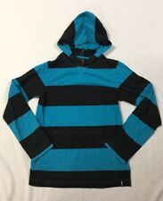 TONY HAWKS BOYS Size L 14 16 Striped Hooded Shirt Top Front Pocket