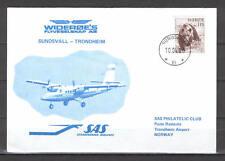 First Flight Cover G96 SAS 1980 Sundsvall - Trondheim