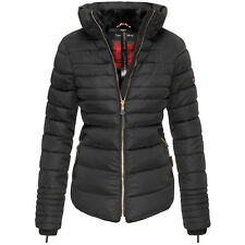 MARIKOO Damen Warme Winter Jacke Winter Parka Steppjacke Teddyfell Jacke Amber2