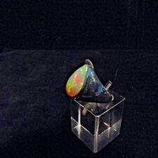 Ring, Gr. 56,  Silber 925 mit einem Opal Cabochon aus Äthiopien