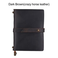 Portable Travel Journal Diary Leather Writing Notebook Refillable Lined A9A4