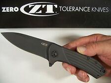 "ZERO TOLERANCE ""usa"" Black FLIPPER TITANIUM knife kershaw ELMAX blade ZT 0801BLK"