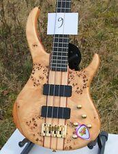 WELLER 4-saiter attivamente e Bass Poplar MOGANO NECK THRU sogno bella legni nr 09