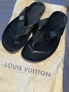 Louis Vuitton Mens Sandals Flip Flops Size 8-US 9