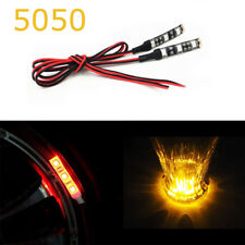 2x Amber 3 SMD LED Light strip 12V waterproof Car Motorcycle Gauge cup holder