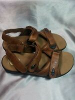 Earth Spirit Gelron 2000 Tan Leather Walking Outdoor Sandals Shoes Womens 9.5