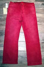 RRL By Ralph Lauren Type d-2 chino nuevo W: 36 L: 32 rojo look usado pantalones