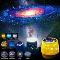 Rotating LED Light Projector Star Moon Sky Night Mood Lamp Projection Lamp B8A2