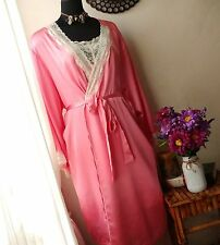 GORGEOUS  PINK ROSE AMOUREUSE PEGNIOR NIGHTGOWN AND ROBE SET SZ. 4X 34/36