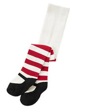 NWT Gymboree HOLIDAY SHOP Snow White Red Striped Mary Jane Tights~12-18 Months~