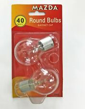Mazda Brand 40 W 240 V BC//B22 Incandescent Clair Golf-Twin Pack