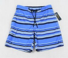 Polo Ralph Lauren Swim Trunks Board Blue Stripe Swimming Shorts L Large NWT