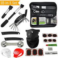 18 in 1 Bicycle Bike Repair Tool Set Kit with Frame Bag Pump Puncture Tyre Tire