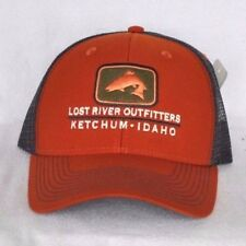 ac835bbdb1fff KETCHUM IDAHO OUTFITTERS Trout fishing Trucker Ball cap hat snapback  embroidered