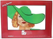 B.B. La Femme CA Pop Art Large Deco 1980s Fashion Model Art Expo Poster NAGEL