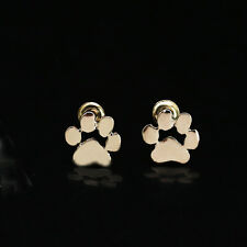 Women Dog Paw Print Earrings 925 Sterling Silver Ear Studs Fashion Jewelry Gift