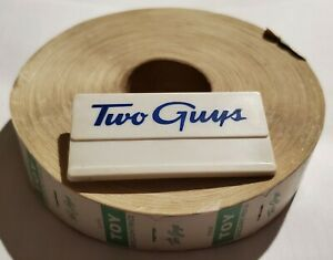 Two Guys Store Vintage Employee ID & Roll of Price Stickers Labels