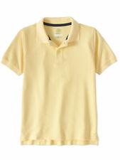 Wonder Nation Boys Yellow School Uniform Short Sleeve Polo Shirt Size 6-7 Small