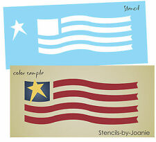 "Joanie Prim Stencil 8"" Patriotic Wavy Flag Country Americana Usa Old Glory Signs"