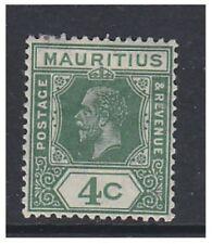 Mauritius - 1932, 4c Green stamp - L/M - SG 226c