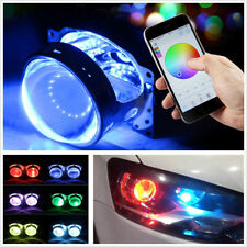 2 Pcs DC12V RGB LED Car Devil Demon Eye Headlight Retrofit Bluetooth APP Control