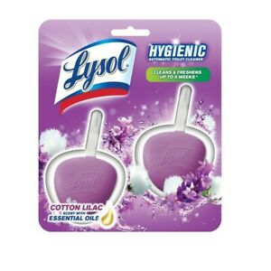 Lysol No Mess Automatic Toilet Bowl Cleaner, Cotton Lilac, 6 Count