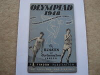 OLYMPIAD 1948 WITH COMPLETE OLYMPIC RECORDS SINCE 1896 SOUVENIR 112 PAGE BOOKLET