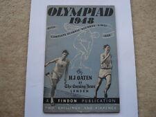 Olimpiada 1948 con registros completos desde 1896 souvenir olímpico Folleto de 112 páginas
