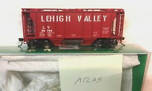 HO Atlas Trainman Lehigh Valley 40 ft  Covered Hopper  nob