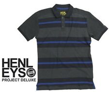 HENLEYS STRIPE POLO SHIRT SIZE MEDIUM NWTS
