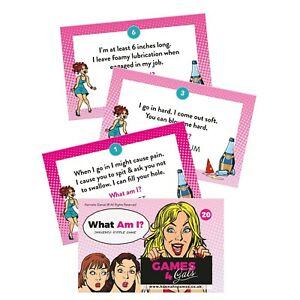 What Am I Innuendo Riddles Hen Party Games Night Card Riddle Drinking Game Adult