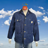 Vtg CARHARTT 8LC Denim Blanket Lined Chore Coat Barn Work Jacket Mens 40 USA