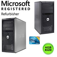Dell Computer Desktop Optiplex - 4 GB RAM - Core 2 Duo - PC Tower - NO HDD