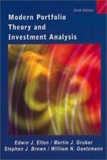 Modern Portfolio Theory and Investment Analysis by Edwin J. Elton, Martin J....