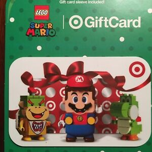 Target Gift Card - Super Mario LEGO 2020 - Yoshi, Bowser Jr - No Value