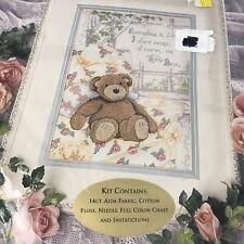 "Stitch World ""Share My Bear"" Teddy Bear Counted Cross Stitch Kit New"