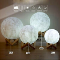 3D Printing Night Light Earth LED Lamp Rechargeable Lighting For Home Decoration