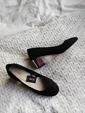 Ladies Black Suede Finish Shoes Size 4 Unworn