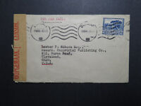 South Africa 1941 Censor Cover to USA / Sea Mail - Z12047