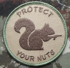 PROTECT YOUR NUTS 2A GUN RIGHTS MULTICAM VELCRO® BRAND FASTENER PATCH