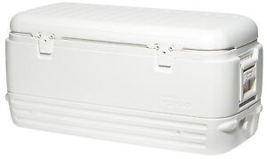 White Igloo MaxCold Quick & Cool 120 QT 114 Litre Large Size Cooler Cool Ice Box